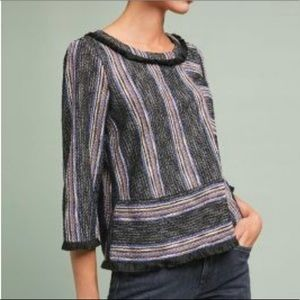 Anthropologie Thompson Striped Pullover Top